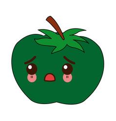 Kawaii tomato vegetable from the farm cartoon vector