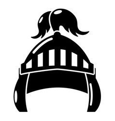 knight helmet security icon simple black style vector image