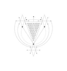 Magic alchemy symbol geometric logo for vector