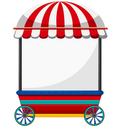 Mobile shop with red roof vector