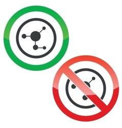 Molecule permission signs vector