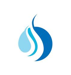 Round wave blue logo vector
