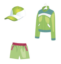 Sportswear for summer sports and warm weather vector