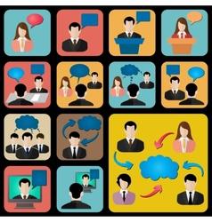 Talk social icon vector image