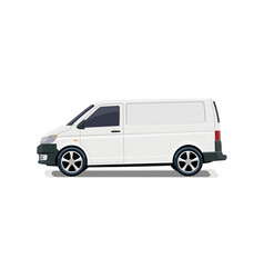 The cargo minivan side view volumetric drawing vector