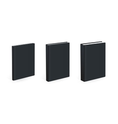 Three different size black books vector