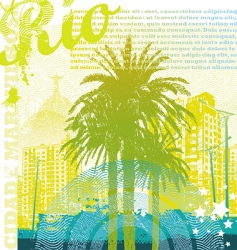 Tropical urban landscape vector