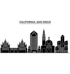 usa california san diego architecture city vector image