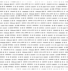 Seamless hand drawn pattern with lines and dots vector