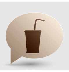 Drink sign  brown gradient icon on vector