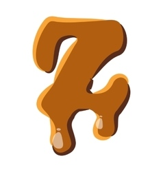 Letter z from caramel icon vector