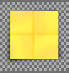 yellow sticky note vector image
