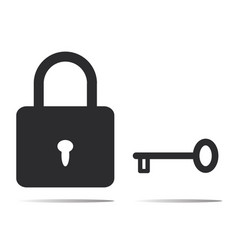 Lock and key icon vector