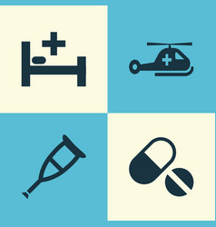 Antibiotic icons set collection of spike pills vector