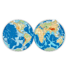 Hemispheres of earth vector