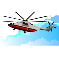 al 0917 helicopter vector image