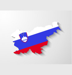 Slovenia map with shadow effect presentation vector