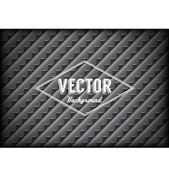 Steel grid background with sharp teeth and label vector