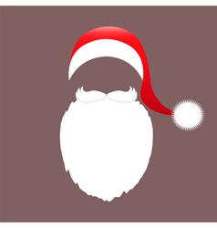 Santa claus cap beard and mustache vector