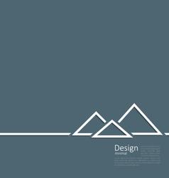 Logo of egyptian pyramid symbol of tourism minimal vector