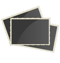 Retro photo frame on white background vector