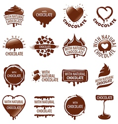 Large set of logos chocolate vector