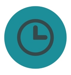 Clock flat soft blue colors round button vector