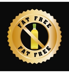 Fat free design vector