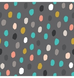 Seamless pattern with hand drawn point vector