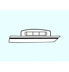 Water white boat vector
