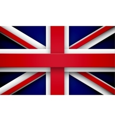Union jack with effects vector