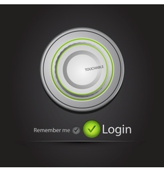 Login page with tune button vector