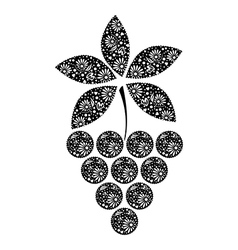 Ftuit decotarive ornamental black grape vector