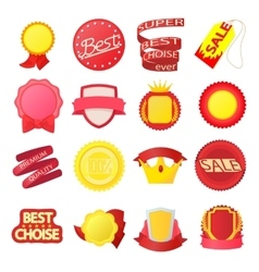 Award icons set cartoon style vector
