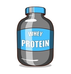 Whey protein isolated on white vector