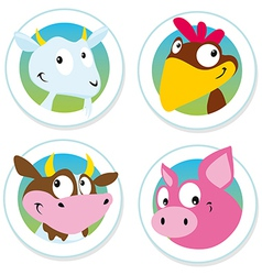 animal farm label vector image vector image