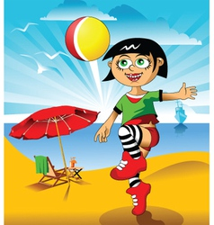 beach games vector image