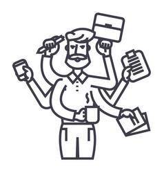 Businessman time management solution efficiency vector