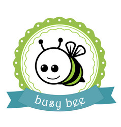 Bussy bee label vector