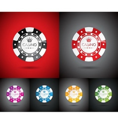 casino with playing chips set vector image vector image