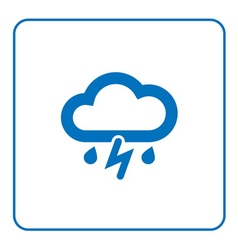 Cloud lightning rain icon vector image vector image