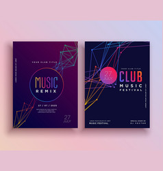club music party flyer template design vector image vector image