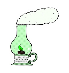 comic cartoon spooky lantern vector image vector image
