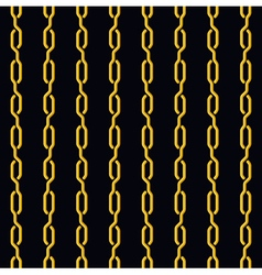 Fashion seamless pattern golden chain on dark vector image