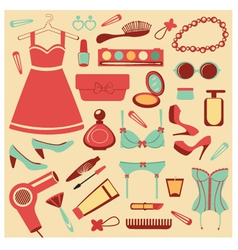Fashionable set vector image vector image