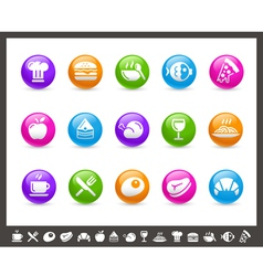 Food Icons Set 1 of 2 Rainbow Series vector image vector image