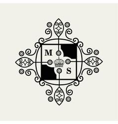 frame style elegant calligraphy vector image