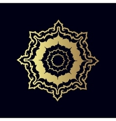 Golden geometric figure or decorative ornament vector image vector image