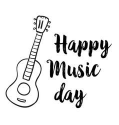 Hand draw music day event doodles vector