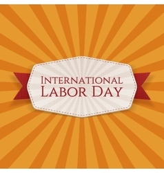 International labor day realistic banner template vector